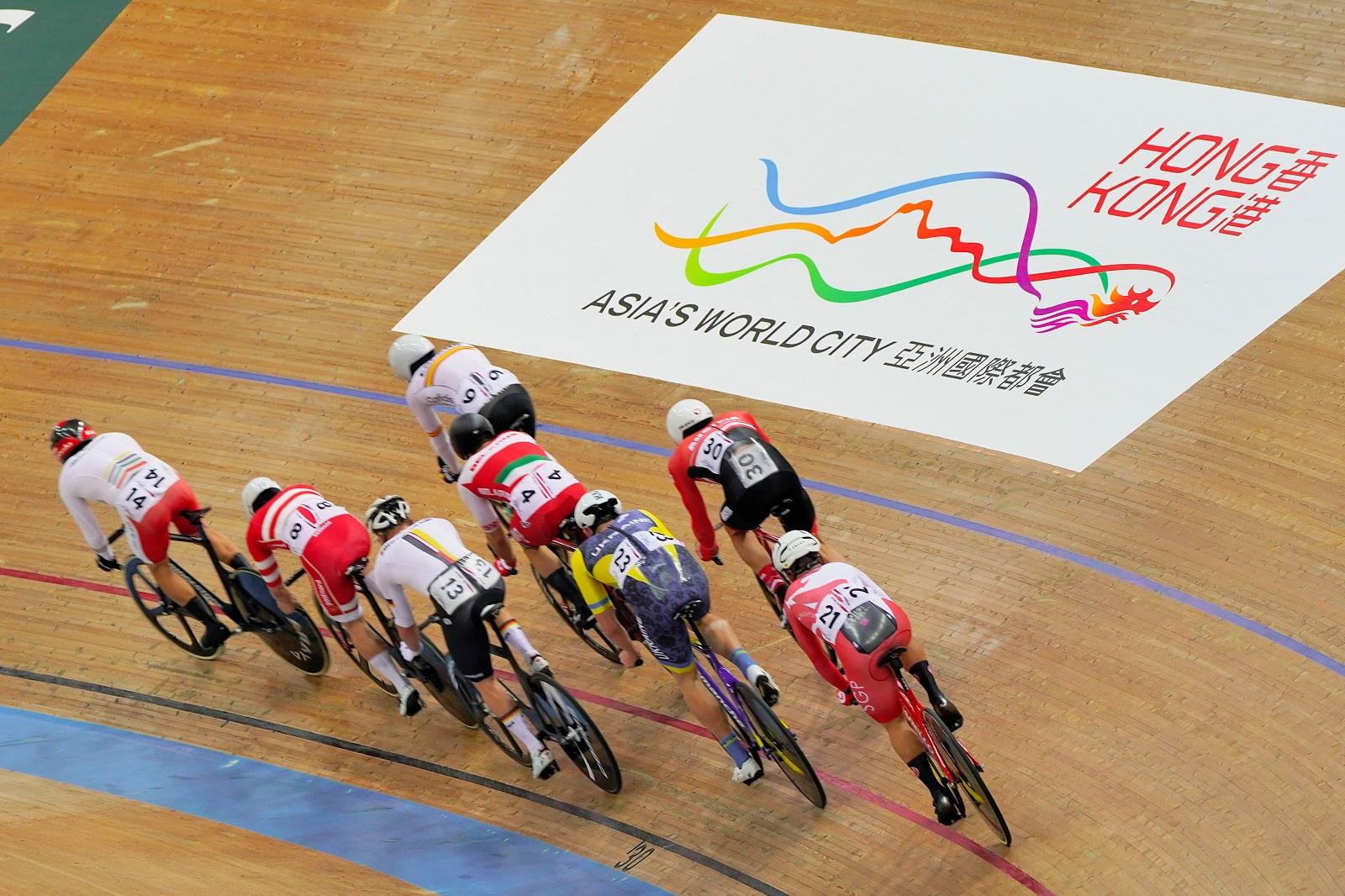 International track cycling at the Hong Kong Velodrome. (2021)