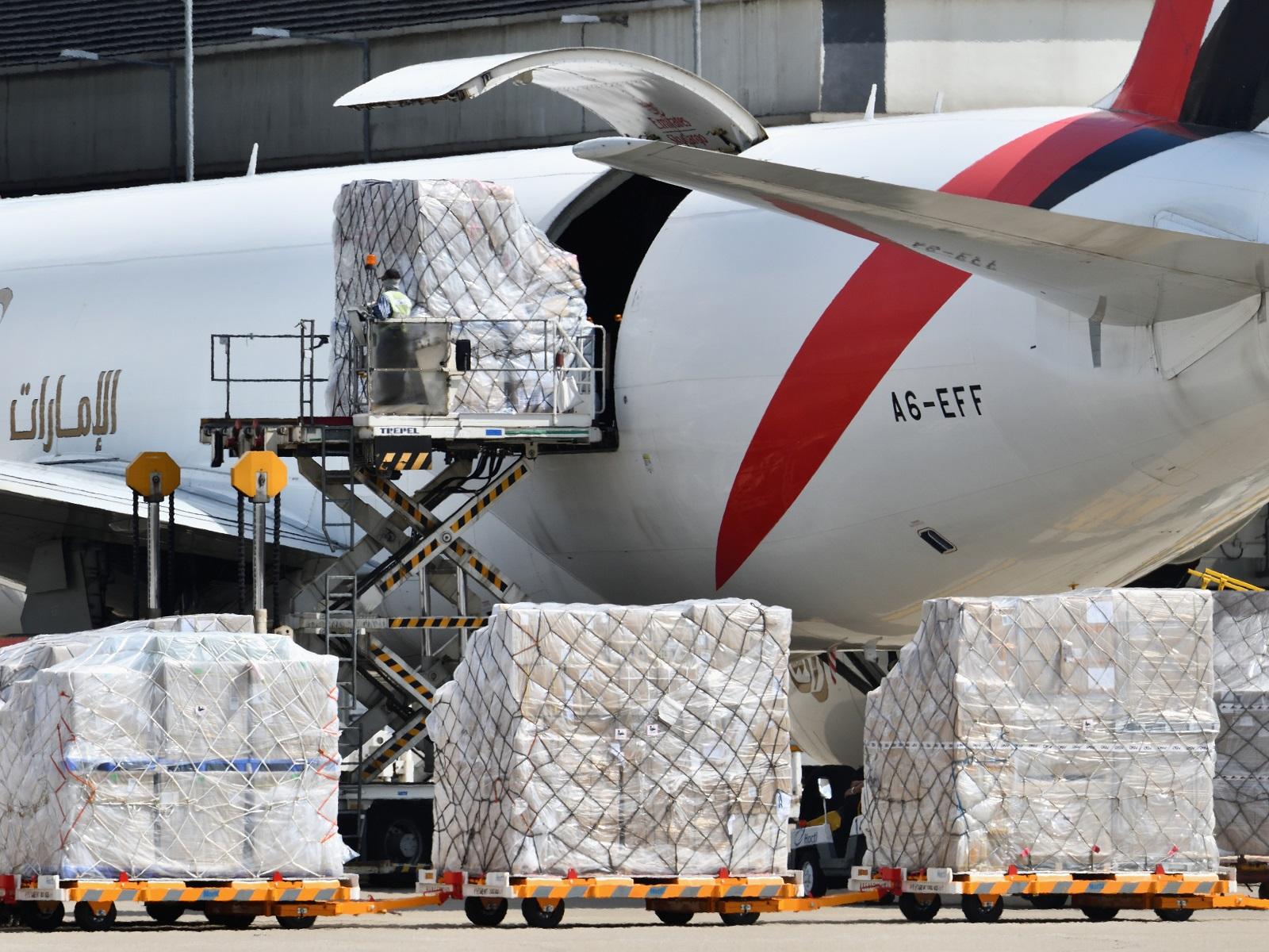 Cargo handling at Hong Kong International Airport. (2019)
