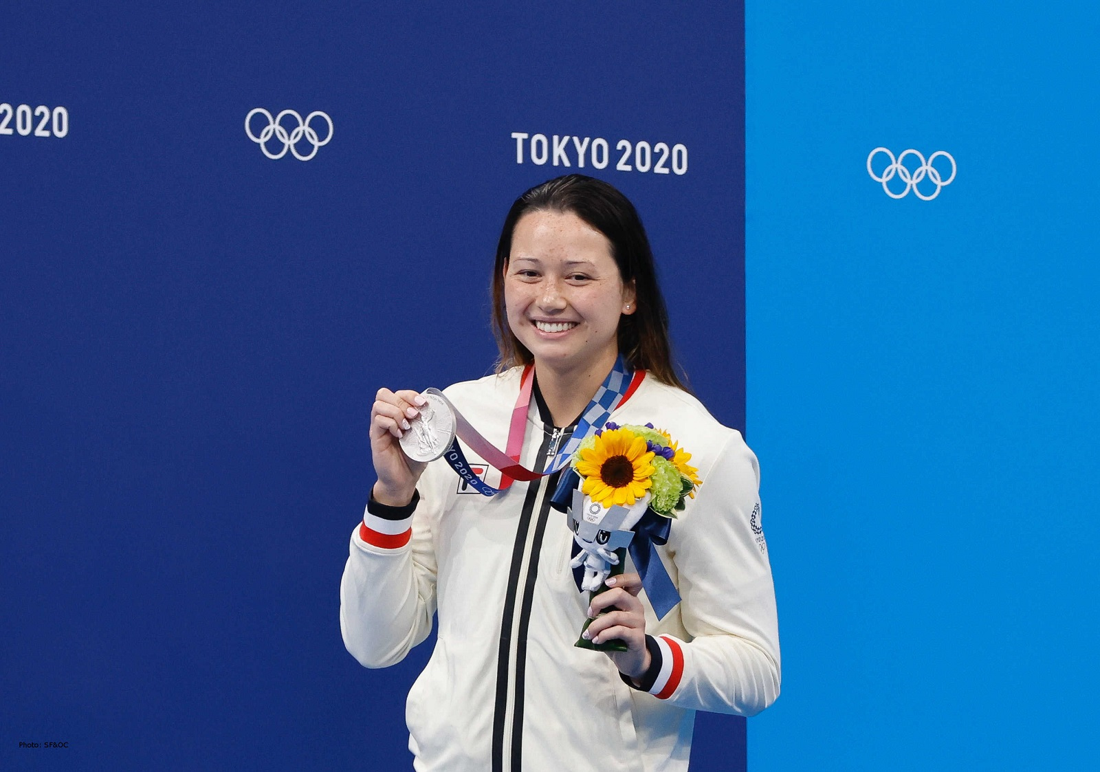 Siobhan Haughey, double-silver medal winner at the Tokyo 2020 Olympics (swimming). (2021) Photo credit: SF&OC 2020