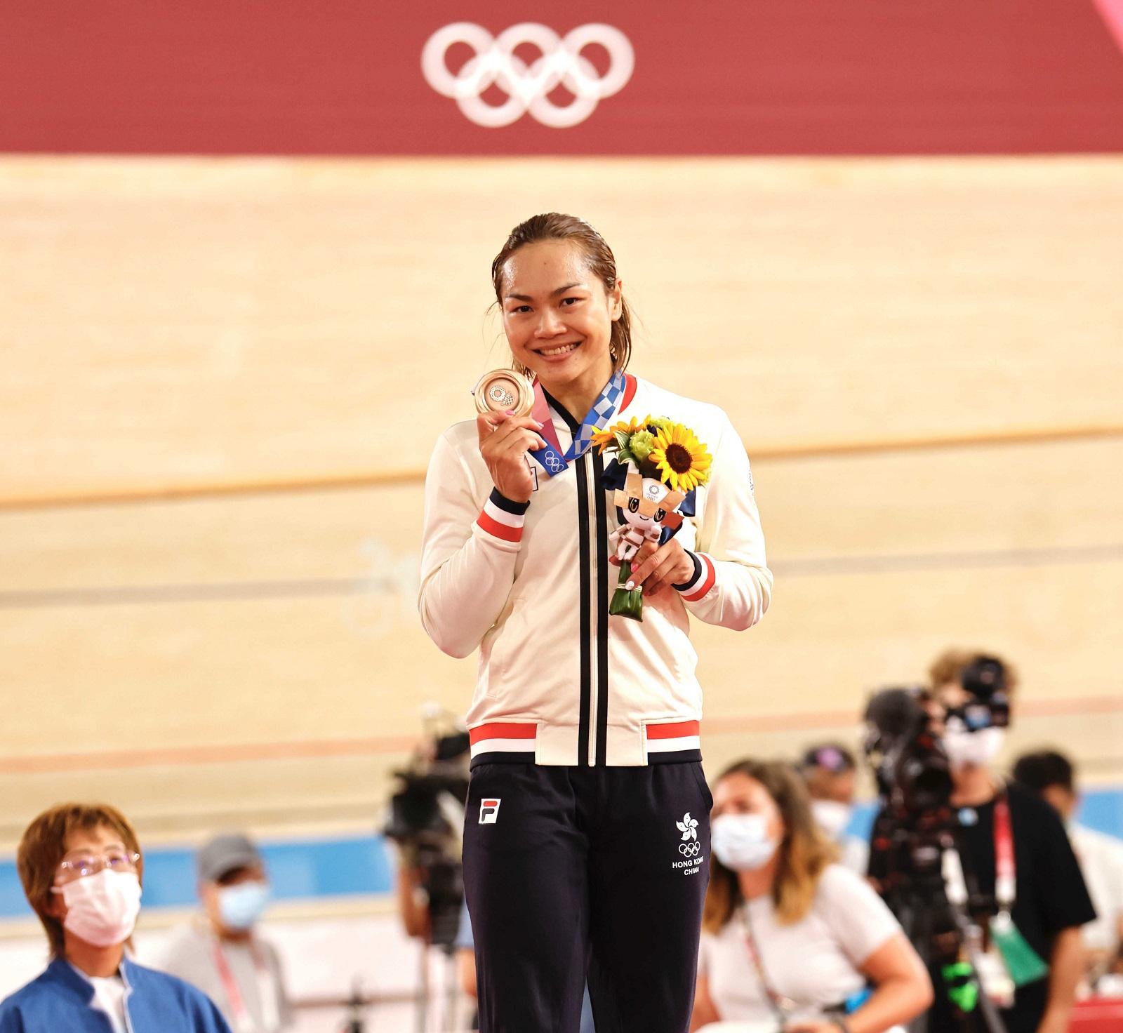 Sarah Lee, bronze medal winner at the Tokyo 2020 Olympics (cycling) (2021) Photo credit: SF&OC