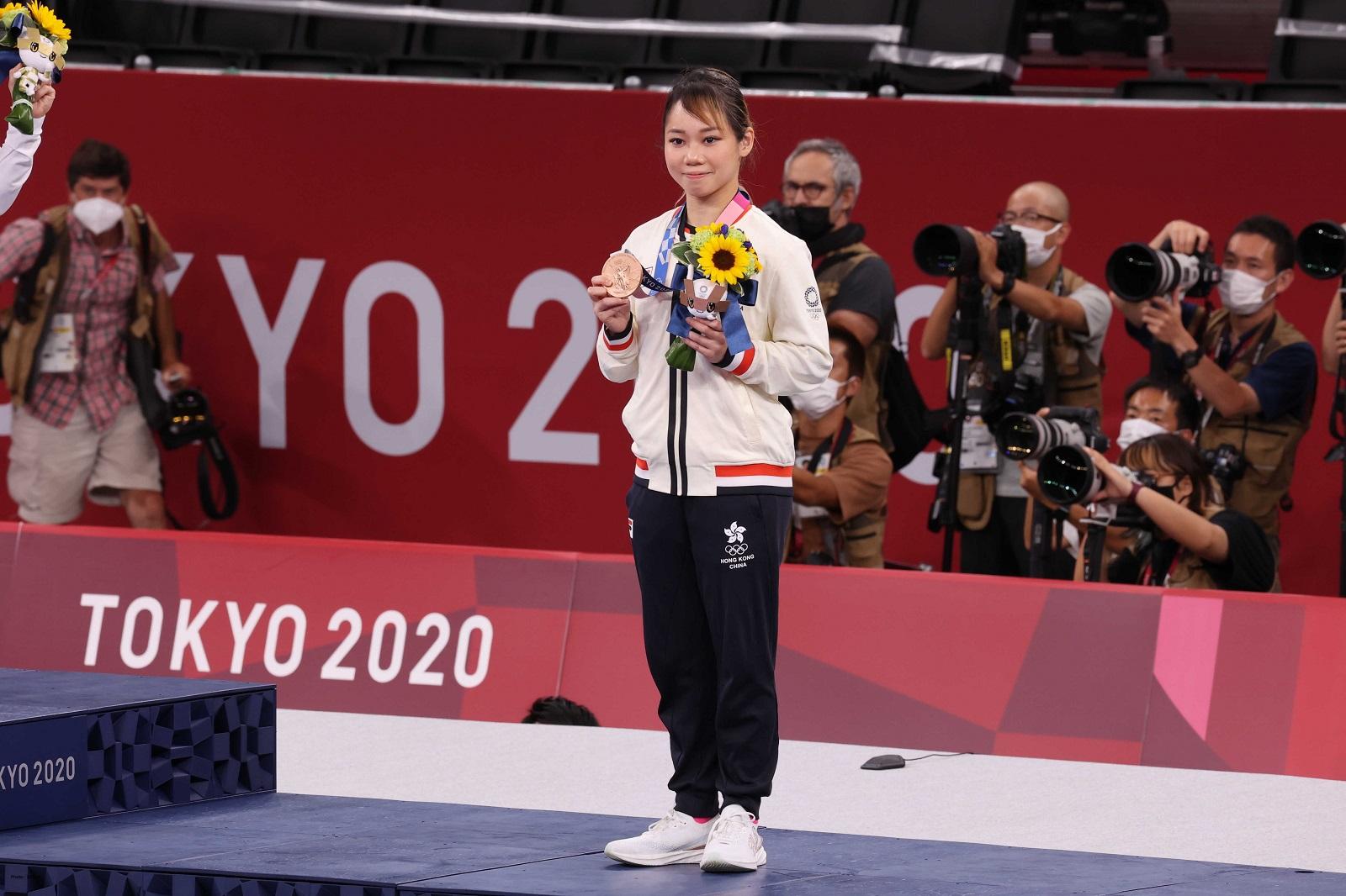 Grace Lau, bronze medal winner at the Tokyo 2020 Olympics (kata). (2021) Photo credit: SF&OC